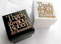 laser cut wedding favor candy boxes | Personalized Wedding Favor Tags Custom Laser cut by MadelineDrive