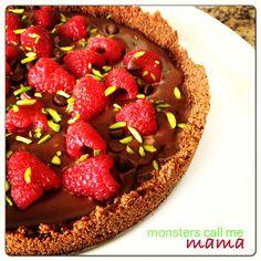raspberry & chocolate tart❤