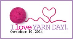 I Love Yarn Day is approaching! If you're in the Charlotte, NC area, join Red Heart yarns for a Fiber Flash Mob! If you're in other areas, our blog has info on where to check for local events.