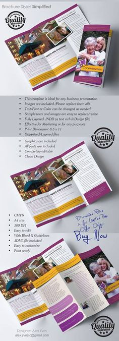 Brochure Trifold, Text Fonts, Business Presentation, Organization, Facebook, Getting Organized, Organisation