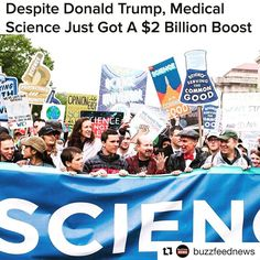 How does this make you feel?  Congress has boosted medical research funding at the National Institutes of Health by $2 billion, despite a call by the Trump administration to trim their budget by billions. #negotiation #marchforscience #celebrities #celebrity #freepress #news #fakenews #AlternativeFacts #protest #marchforscience #resistance #regulations #resist #womensmarch #refugees #ethics #morals #unitedstatesofconscious #education #educate #knowledge #knowledgeispower #congress #trump…