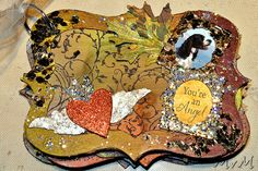 This is fabulous! LOVE all the sparkle!! @stampendous  @artanthology