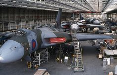 British Royal Air Force (RAF) Avro Vulcan – In Process of Being Converted to Aerial Tankers - Woodford Air Base - 1982 x Military Jets, Military Aircraft, Vickers Valiant, V Force, Avro Vulcan, Delta Wing, Military Pictures, Ww2 Aircraft, Navy Aircraft