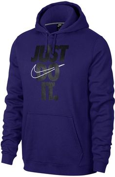 0c92d8d1d8cc Nike Men s Sportswear Just Do It Logo Sweatshirt - Blue XL ...