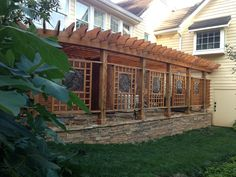 *Pergola hides the generator, pool, pond, and a/c power equipment. 2013