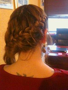 side braid, hair