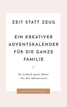 Time instead of stuff: a creative advent calendar for the whole family # fashionhij … - Neujahr Advent Calenders, Diy Advent Calendar, Memorial Gifts, All Things Christmas, Christmas Ideas, Cards Against Humanity, Diys, About Me Blog, Creative