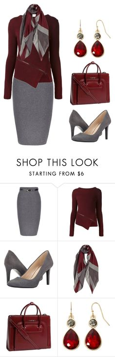 """New Work Outfit January 2016"" by rovereddo ❤ liked on Polyvore featuring Belstaff, Nine West, McKleinUSA and Liz Claiborne"