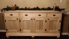 Planked Wood Sideboard DIY