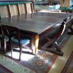 9ft Thos. Padmore Antique Refectory Snooker Diner in oak | Browns Antiques Billiards and Interiors.