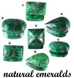 Carved Emeralds
