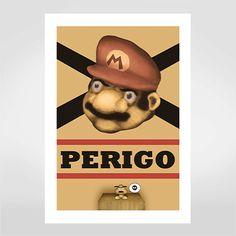 Fine art Cuidado com o Mario por Hugo Tamura R$48,00