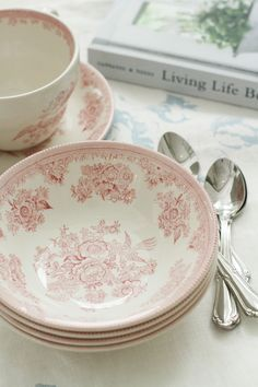 Kitchenware, Tableware, English Pottery, English China, Kitchen Dishes, Vintage Plates, Pink Tone, Plates And Bowls, Pheasant