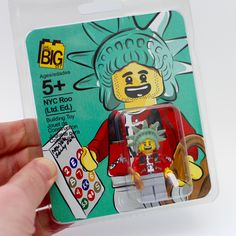 Little Big Art | Limited Edition NYC Roo LEGO Minifigure, The Travels of Roo (LE100, Tourism, NYC)