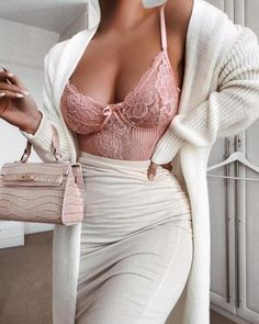 (Swipe for photo) 1 Blush Bodysuit, 3 Casual Looks 🌸 all clothes + Shoes from 🌸 for all those asking about the Spanx… Mode Outfits, Fashion Outfits, Womens Fashion, Classy Outfits, Casual Outfits, Mode Inspiration, Jumpsuits For Women, Look Fashion, Elegance Fashion