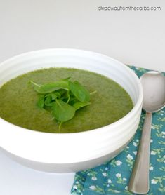Low Carb Watercress and Cauliflower Soup - a healthy appetizer or lunch recipe