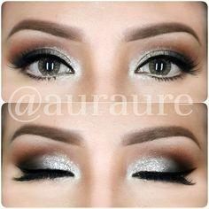 Sliver sparkle look Beautiful Eye Makeup, Love Makeup, Beautiful Eyes, Makeup Art, Makeup Looks, Hair Makeup, Makeup Ideas, Beauty Makeup Tips, Beauty Hacks