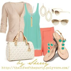 Coral and Mint #Classic design.#Casually Cool!!!#