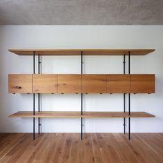 / oak shelf with steel tubes legs made for a Prague apartment / 📷: Prague Apartment, Oak Shelves, Joinery, Solid Oak, Woodworking Shop, Hardwood, Shelf, Interior Design, Interiors