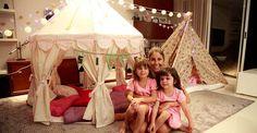 Patrícia Maldonado: festa do pijama com as filhas