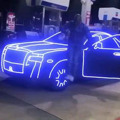 Neon Effects Photoshop>>> video <<<What's going on with that Rolls? Rolls Royce, New Luxury Cars, Lamborghini Cars, Futuristic Cars, Sweet Cars, Amazing Cars, Awesome, Hot Cars, Exotic Cars
