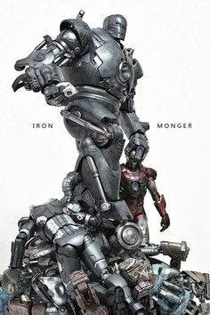 Iron Monger vs Iron Monger °° War Machine down! Marvel Villains, Marvel Comics Art, Marvel Comic Universe, Marvel Characters, Marvel Heroes, Iron Man Theme, Marvel Statues, Best Superhero, Man Wallpaper