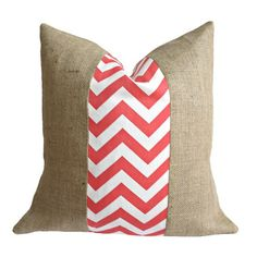 I pinned this Charlotte Pillow I in Coral from the A Bit of Burlap event at Joss and Main!