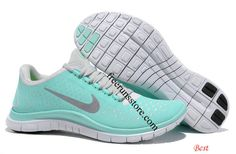 Tiffany Blue Nike Free 3.0 V4 Womens Blue White Silver... and tons more half-price stuff on this site!