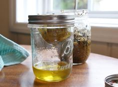 DIY Chamomile Infused Olive Oil for natural skin care recipes.