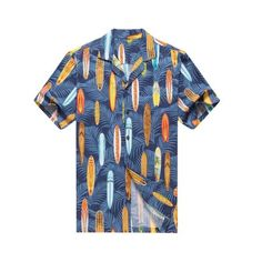 a2321aa0cfb Made in Hawaii Men s Hawaiian Shirt Aloha Shirt Palms Surfboards in  Assorted Colors