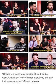 Charlie Cox- a stand-up dude in every way! Captain Marvel, Marvel Dc, Marvel Comics, Luke Cage Iron Fist, Luke Cage Jessica Jones, Defenders Marvel, Marvel Show, Daredevil Funny, Marvel's Daredevil
