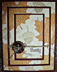 """Leaves **** SU """"Wonderfall"""", 2012 Holiday Mini. triple stamp"""