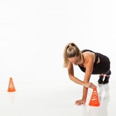 Cardio Workouts Cone Cardio Drill: Plank Walks - Save your cash and create your own killer training session with these simple but super-effective circuit ideas Agility Workouts, Agility Training, Circuit Training, Training Plan, Fitness Workouts, Cardio Workouts, Body Workouts, Strength Training, Do Exercise