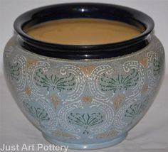 Amazon.com - Doulton Lambeth Pottery Large Jardiniere - Decorative ...