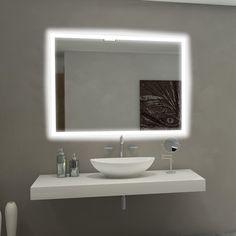 Paris Mirror RECT4836 Backlit Mirror   Lowe's Canada
