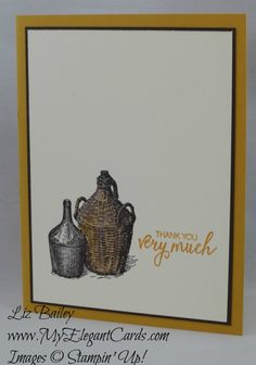 Tuscan Vineyard - Bunch of Blossoms - CAS - My Elegant Cards - Liz Bailey - Independent Stampin' Up! Demonstrator
