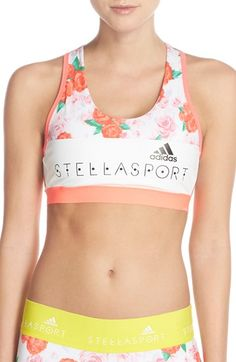 cac3333faa499 adidas by Stella McCartney Climalite® Sports Bra available at  Nordstrom  Long Sports Bra