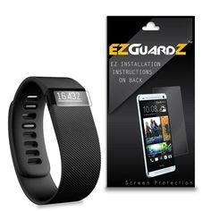 3X EZguardz LCD Screen Protector Skin HD 3X For FitBit Charge HR (Ultra Clear) #EZguardz