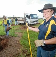 The Mackay Host Lions Club planted 50 trees at a botanic garden to celebrate its 50th anniversary.