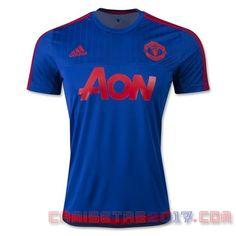 Camiseta entrenamiento Manchester United 2015 2016 azul