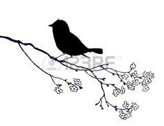 vector de silueta de aves en el fondo blanco ilustraci n vectorial Foto de archivo