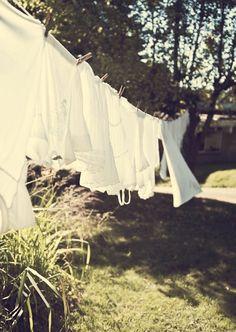 Sun dried Laundry line