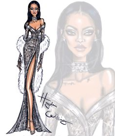 haydenwilliamsillustrations:Happy Birthday Rihanna!!