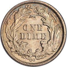 1873 dime - reverse