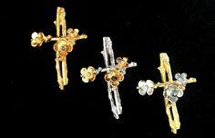 Yellow Gold Cross Iosif with Cross Recommended Options: Yellow Gold -White Gold -Pink Gold Gemstones:AquaMarine-Amethyst-Ruby-Sapphire-Tourmaline-Peridot-Citrine Quartz-LemonQuartz-PinkQuartz-SmokeQuartz. Ruby Sapphire, Peridot, Amethyst, Pink And Gold, White Gold, Cross Jewelry, Gold Cross, Crosses, Quartz