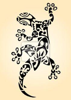 Fotomural Gecko Maori Squalo Manta No Tendra Marca De Agua Autor