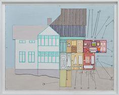 Leonard Rickhard <em>Analytisk bilde</em><br />Olje på papp og tre, 66x81 cm