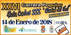La XXVI Carrera Popular Ruta Carlos III 2017 se celebra el 18 de enero de 2018 con un recorrido de 26000 m. #rutacarlosiii #ecija #carrerapopular #mediamaraton Popular, Sun, January, Racing, Paths, City, Sports, Popular Pins