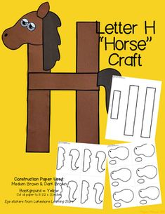 Zoo Letter Craft - H for Horse