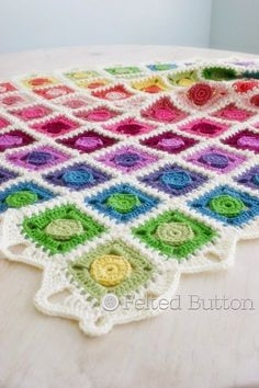 Felted Button - Colorful Crochet Patterns: And the Circle Takes the…